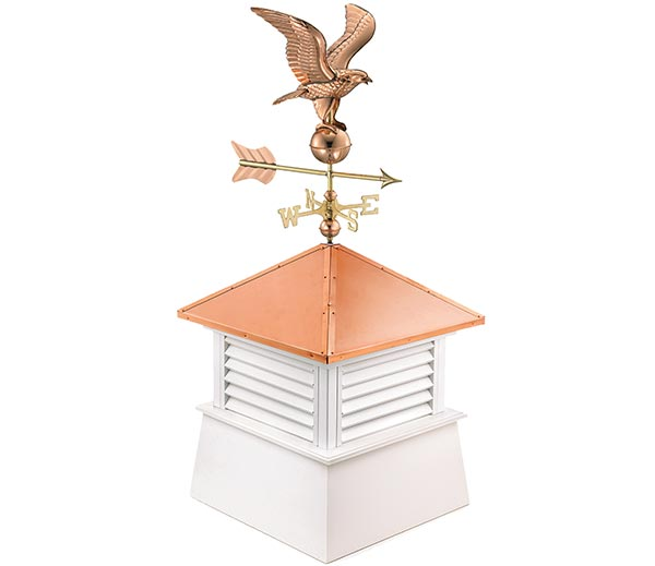 "18"" Square Manchester Vinyl Cupola with Cottage Eagle"