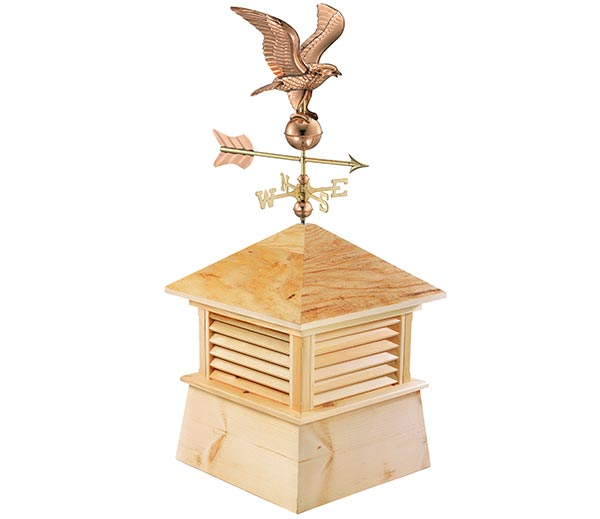 "26"" Square Kent Wood Cupola with Cottage Eagle"