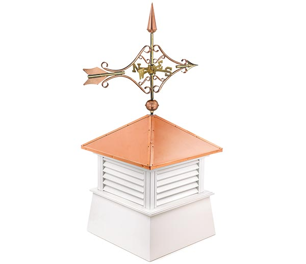 26 Square Manchester Vinyl Cupola with Cottage Victorian Arrow