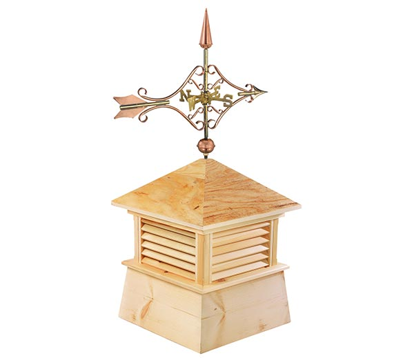 30 Square Kent Wood Cupola with Standard Victorian Arrow