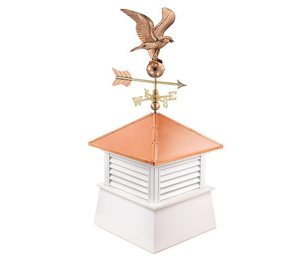 "30"" Square Manchester Vinyl Cupola with Standard American Eagle"