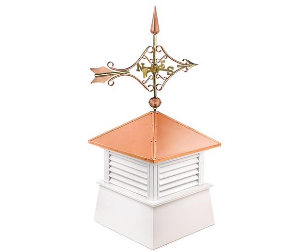 "30"" Square Manchester Vinyl Cupola with Standard Victorian Arrow"