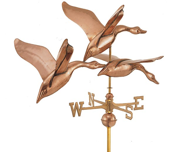 42-3-Geese-in-Flight-Estate-Weathervane-Polished-Copper
