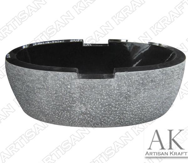 Absolute Black Luxury Marble Bathtub