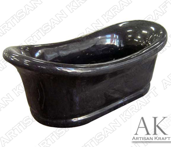 Black Marble Slipper Bathtub