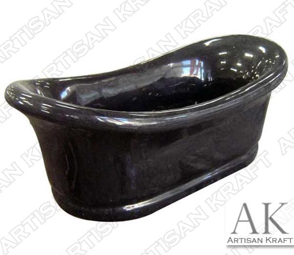 Black Marble Slipper Bathtub