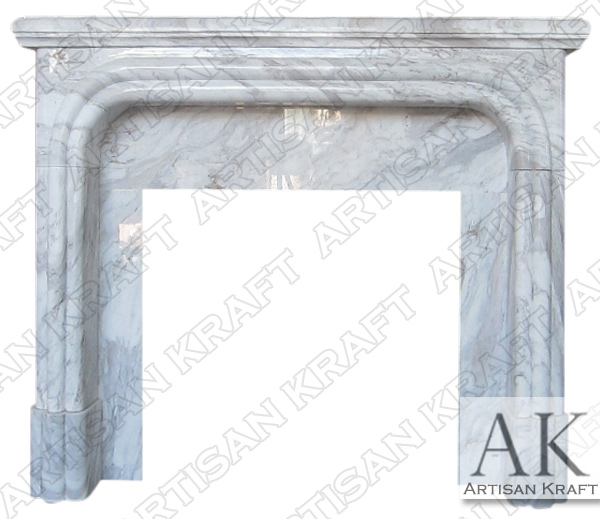 Arched Greek Volakes Fireplace Mantel