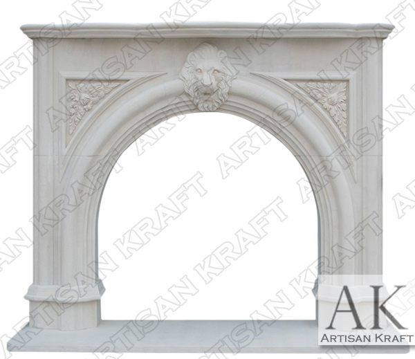 Arched Lion Fireplace Mantel
