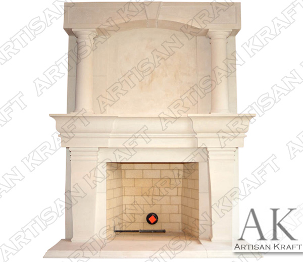 ATLANTA-COLUMN-FIREPLACE-OVERMANTEL