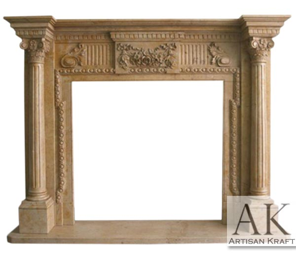 AUGUSTUS COLUMN FIREPLACE MANTEL
