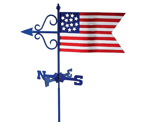 Americana-Flag-Cottage-Weathervane-w-Roof-Mount