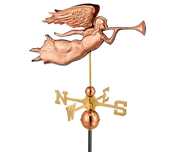 Angel-Weathervane-Polished-Copper