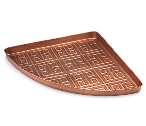Athens-Multi-Purpose-Shoe-Tray-for-Boots,-Shoes,-Plants,-Pet-Bowls,-and-More,-Copper-Finish