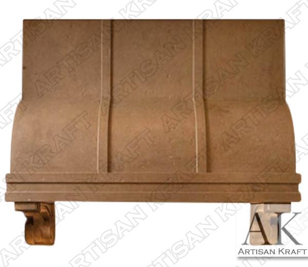 Atlanta Range Hood Custom Cast Stone