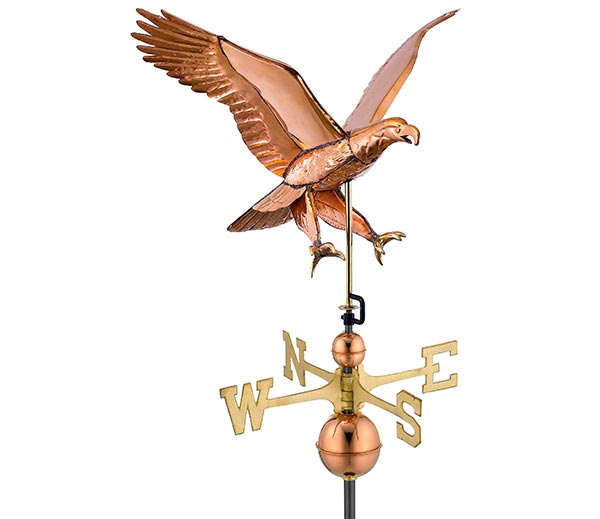 Attack-Eagle--Weathervane-Polished-Copper