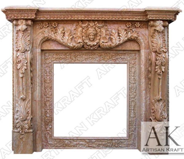 BAROQUE VERONA MARBLE FIREPLACE MANTEL