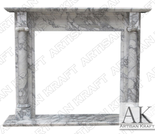 Barrington Arabesco Marble Fireplace Mantel