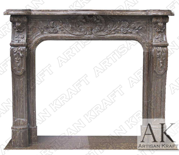 Bella Vista Fireplace Mantel Brown Marble