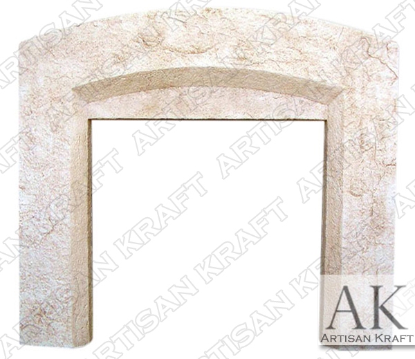Beveled Arched Precast Fireplace Mantel