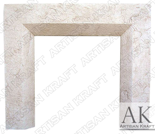 Beveled GFRC Fireplace Mantel