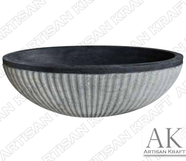 Blue Stone Double Ended Oval Bathtub