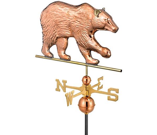 Bear-Weathervane-Polished-Copper