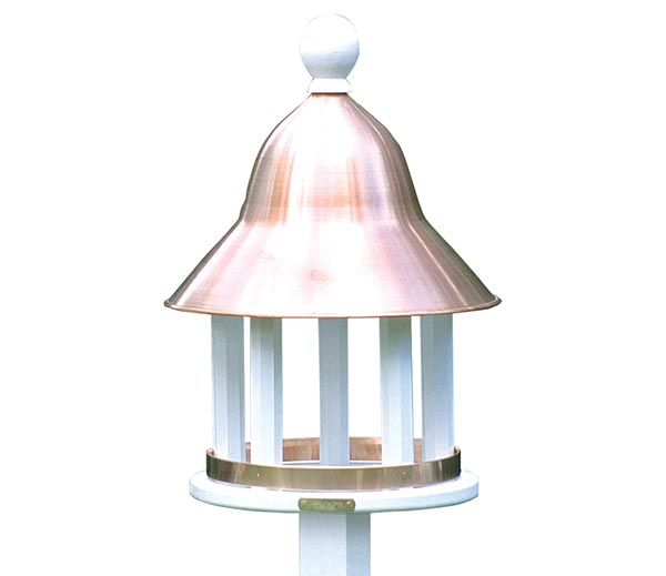 Bell-Bird-Feeder-with-Polished-Copper-Roof