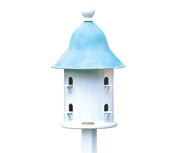 Bell-Bird-House-with-Blue-Verde-Copper-Roof
