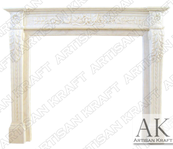 Capri Marble Fireplace Surround