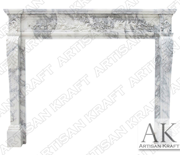 Capri Italian Marble Fireplace Mantel