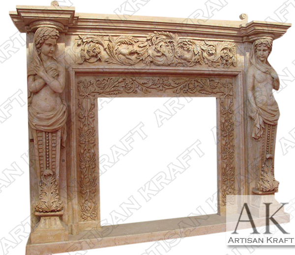 Cherubim Marble Fireplace Surround
