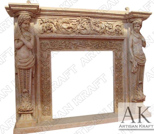 Cherubim Marble Fireplace Surround