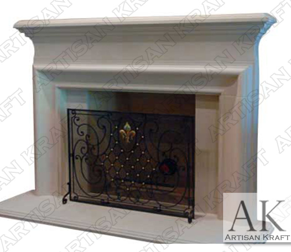 Clermont Cast Stone Fireplace Mantel