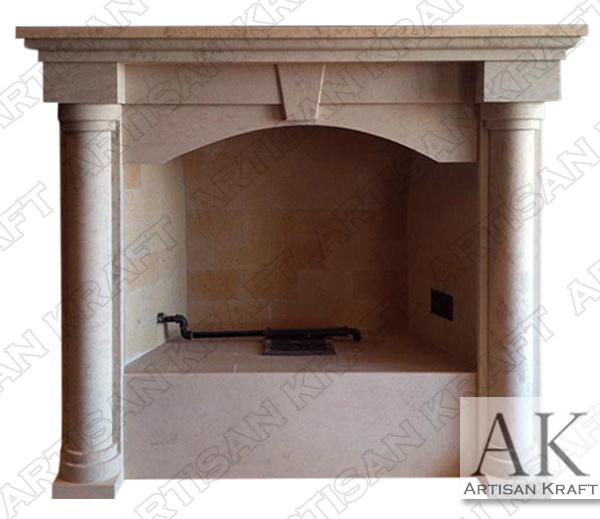 Colonial Marble Column Fireplace Mantel
