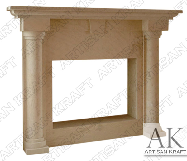 Colonial Fireplace Mantel Marble Columns