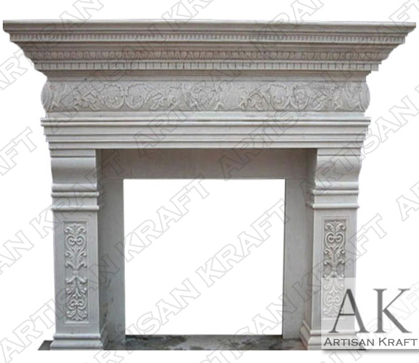 Columbus Marble Fireplace Mantel