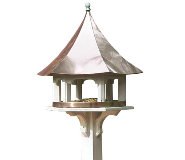 Carousel-Bird-Feeder-with-Polished-Copper-Roof