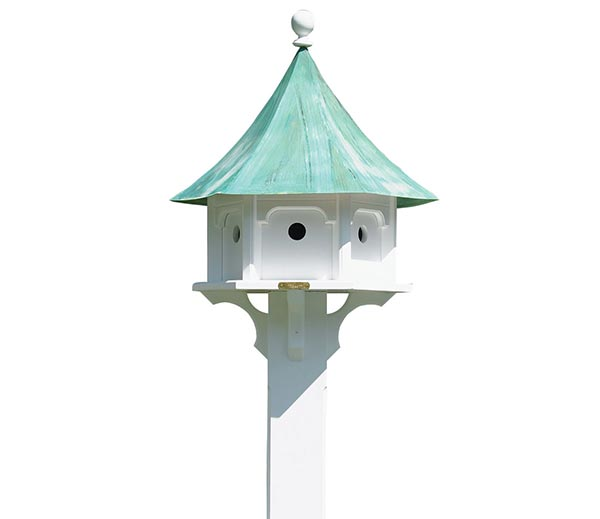 Carousel-Bird-House-with-Blue-Verde-Copper-Roof