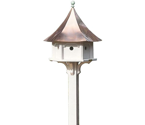 Carousel-Bird-House-with-Polished-Copper-Roof