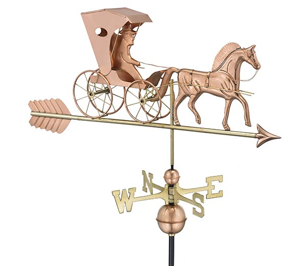 Country-Doctor-Weathervane-with-Arrow-Polished-Copper