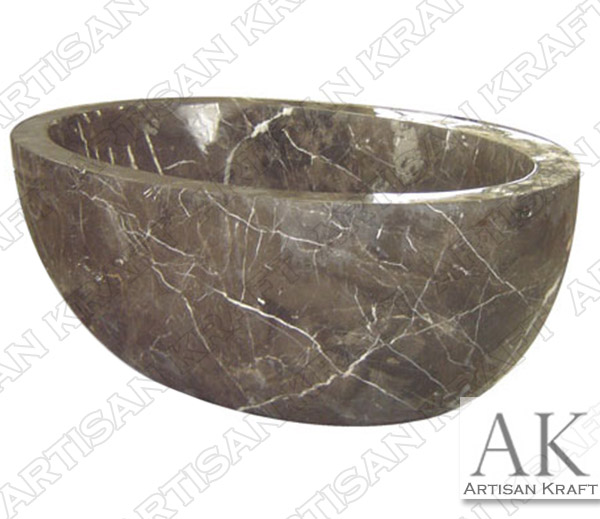 Dark Emperador Spanish Marble Bathtub