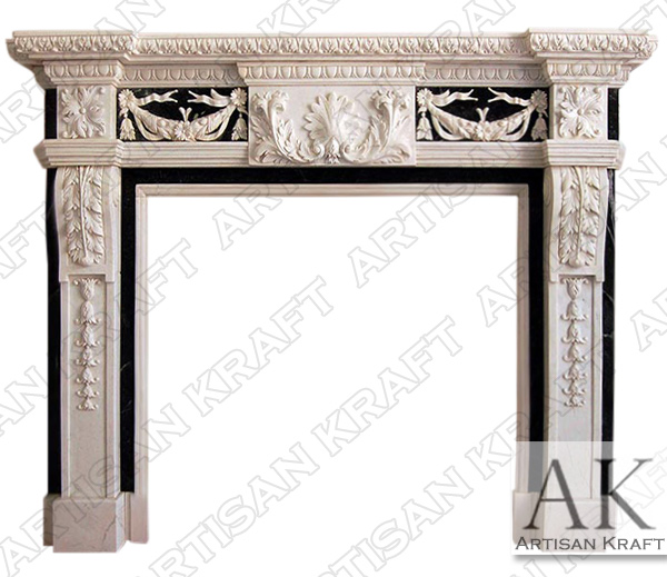 Delaware Marble Fireplace Mantel