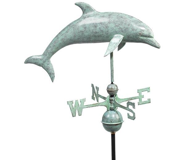 Dolphin-Weathervane-Blue-Verde-Copper