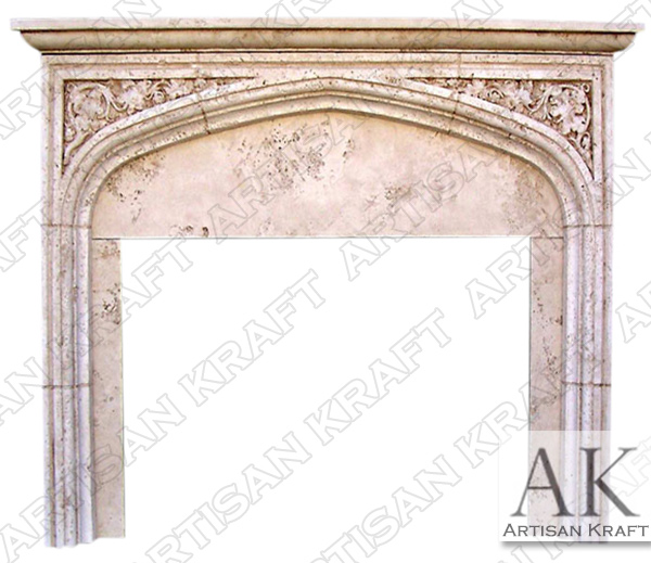 English Tudor 2 w/ Shelf Fireplace Mantel