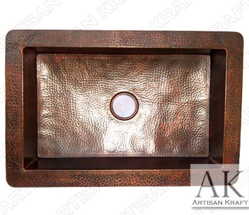 Embossed-Farmhouse-Hammered-Kitchen-Copper-Sinka