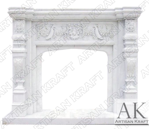 Florida Marble Fireplace Mantel