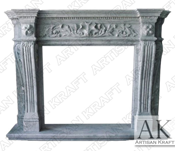 New York Marble Fireplace Mantel