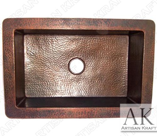 Farmhouse-Hammered-Copper-Kitchen-Sink-IVa