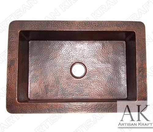 Flat-Hammered-Copper-Kitchen-Sink-V