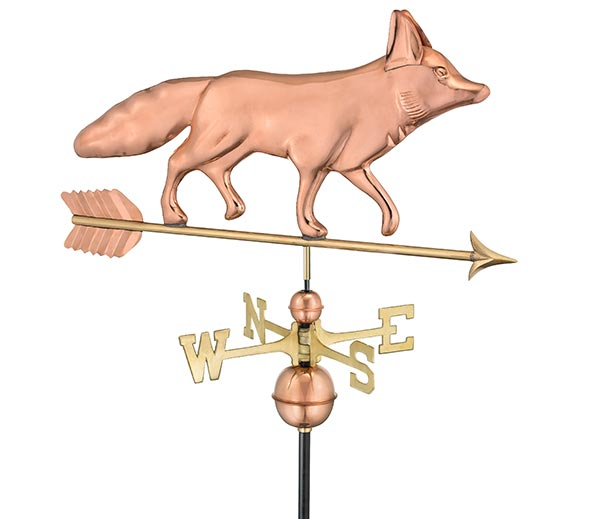Fox-Weathervane-Polished-Copper